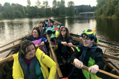 HIVE Choir with Lagan Currachs, River Lagan 2019
